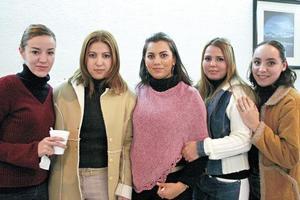 Claudia Aramburo, Nidia Nahoul, Araceli Jiménez, Alicia Padilla y Adriana Bardan