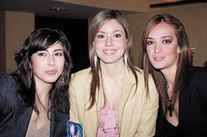 Sofía Siller Luengo, Rocío Sañudo y Paulina Dibildox Bonardell