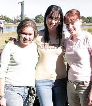 Ángela Navarro, Daniela Martínez y Alejandra Villarreal