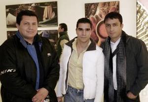 Gerardo Corrales, Omar Rodríguez e Israel Ávalos