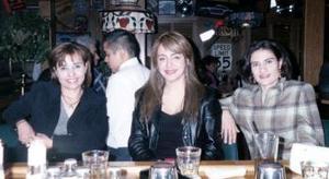 Lourdes Guzmán, Graciela Villalobos y  Verónica Nava.