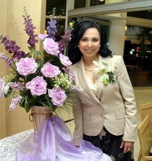 Aída Janeth Talamantes Bernal, captada en su despedida de soltera.