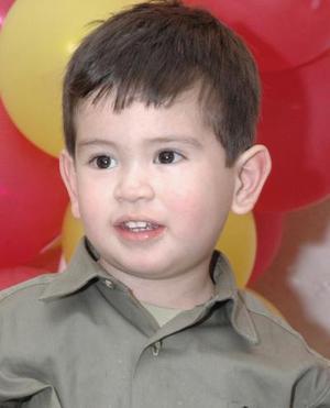 El pequeño Eduardo Domínguez Moreira, captado el día de su piñata.