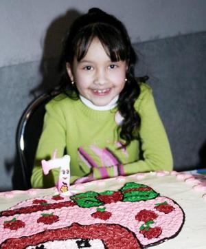 Frida Stephanie Prado Ramón, captada en su fiesta de cumpleaños.