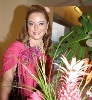 Mónica Hernández Marabotto captada en su primera despedida.