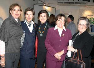 <b>09 de febrero de 2005</b> <p> María Luisa Dingler de Miñarro,María Treviño de Bredée, Rosario Lamberta de González, María Rosa Bredée de Bremer, y María Isabel Saldaña