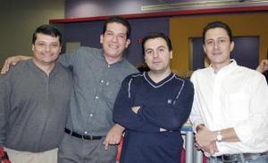 Fernando Daccarett, Mauricio Chibli, Jesús Cancino y Jesús Alonso.