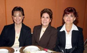 Claudia de Gutiérrez, Irma Esther de Gómez e Imelda Hinojosa