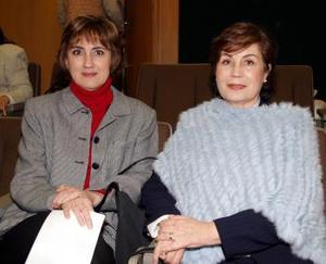 Silvia Garza de Maisterrena y Alma Rosa de Campos.