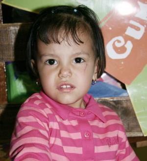 Melani Villarreal Pineda, captada en su fiesta con motivo de su segundo cumpleaños de vida.