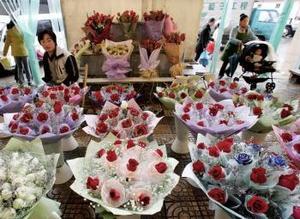 El mercado de las flores en China es uno de los más visitados a nivel mundial.