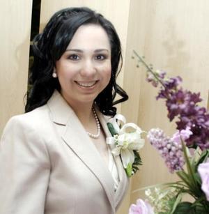 Aída Janeth Talamantes Bernal captada en su despedida de soltera.