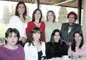 <b>12 de febrero de 2005</b> <p> Carla Serhan de Martínez, Alejandra Serhan de Reed, Leticia Canedo de Nátera, Gabriela Natera, Georgina de la Peña y Juana María de Nátera.