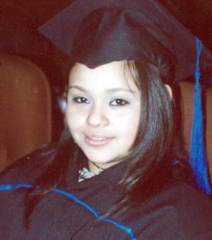 Mónica López Peña, el día de su graduación .