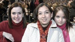 Pilar de Silveyra, Sara de Cruz y Sara Cruz.