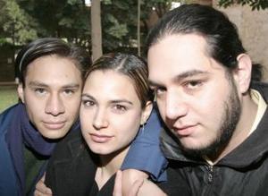 <b>14 de febrero de 2005</b> <p> Miguel Orejel, Ana Rosa García de Alba Darwich y Sergio Antonio Corona.