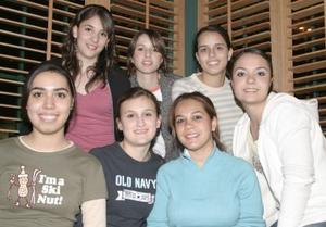 Imelda Cortés, Tania Sánchez, Sofía Abusaid, Ercel Mirales, Mercedes Sada, Anabel Núñez y Sofía de la Cruz.