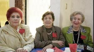 Nena de la Rosa, Yolanda de Aguirre y Raquel de Porras.