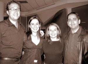 <b>17 de febrero de 2005</b> <p> Francisco Rivera, Érika Padilla, Rodrigo Méndez e Itziar Muguerza