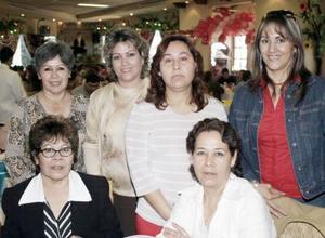 María Elena Domínguez, Mode Herrera, Magda de Valdez, Claudia Torres, Any Alvidrez y Leticia García