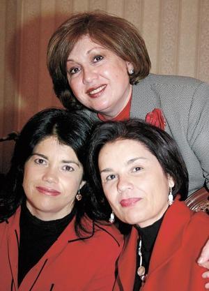 Lolo  Rebollo de  Cepeda, Guadalupe  Rebollo de Cepeda  y Elvira Rebollo de Garza