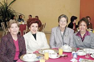 Ana Maria L. De Amarante, Norma Cepeda de Salas, Rosario Maíz de Villareal y Soledad Llamas de Anaya.