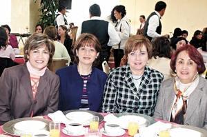 Alicia de Cárdenas, Ángeles de Lara, Susana de González y Lucrecia de Álvarez