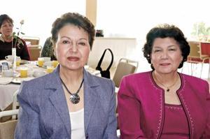 Vivis de la Peña y Victoria Eugenia Acosta