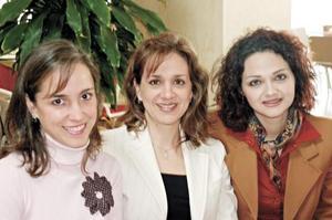 Gretel de la Peña de Quesada, Iris Cebrian de González e Isabel Rosan de Treviño