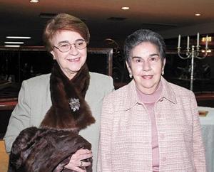 Morena Bracho de Diez y Mercedes Bracho