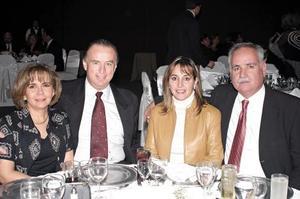Jorge Madero, Margarita Torres de Madero y Sonia y Ricardo Anaya