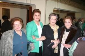 Leonor de Ruiza, María Rosa Bredeé, Lilia de Aguilar y Consuelo de Dorantes.