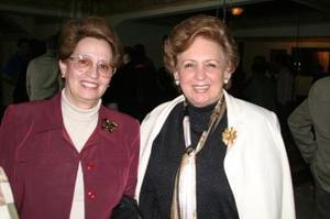 <b>18 de febrero de 2005</b> <p> Susana Niño y Pilar Sánchez.