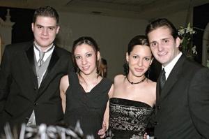 Carlos Valdes, Susana V. de Valdes, Sergio de la Parra y Mónica Garrido