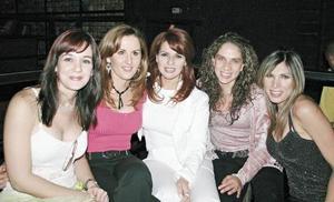 Marcela Garza Rodríguez, Susana Jalife, Sylvia García de Gómez, Laura Zuñiga y Lorena Llergo de Ramos