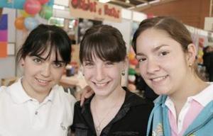 Gaby Trigos, Jéssica Martínez y Lourdes Humphrey.
