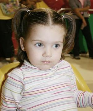 La pequeña Mariela Cantú captada en reciente fesetjo.