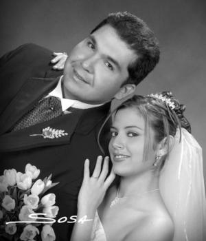 Srita. María de Guadalupe Gámez Castillo, el día de su enlace matrimonial  con el Dr. César Alejandro  Verano Moreno <p> <i>Estudio : Sosa</i>