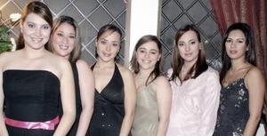 Silvia de De Anda Malusa Román, Fernanda de De la Garza, Laura Torres, Rocío de Gamboa y Bertha Torres.
