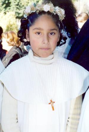 Lizeth del Carmen López del Río captada en pasado acontecimiento; es hija de los señores Ricardo López Leos y María del Carmen del Río de López.