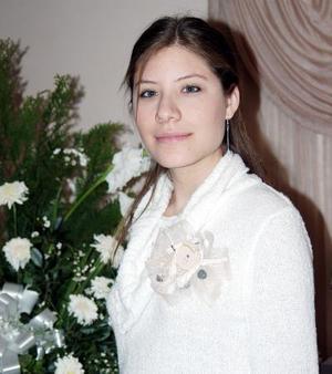 Elizabeth Salazar Vázquez captada en su última despedida de soltera.
