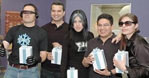 Marco Rosales, Víctor Ochoa, Jorge Solorio, Mariana Bojórquez y Olivia Ávila.