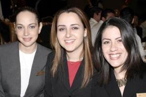 Claudia Rueda, Jéssica Ortiz y Paty Zermeño