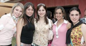 Aracely Martínez, Sonia Anaya, Paty Decillo, Idali Chibli y Maricarmen Aguilar.