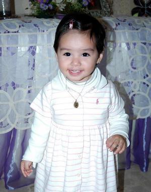 La pequeña Marina Isolda Guerrero Rentería disfrutó de una fiesta.