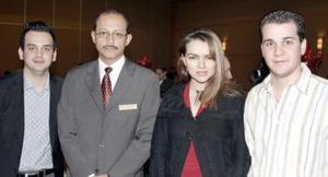 Diego Hurtado, Luis Negrete, Farrah Vanessa Martínez y José Canavati.