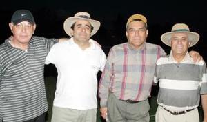 Ramón Nohra, Jorge Abularach, Santiago Torres y Juan José Gómez