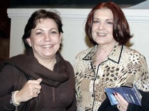 <b>28 de febrero de 2005</b> <p> Pilar de Miñarro y Rosa María de Granados.