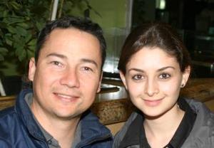Akib Kishi y Diana Daher.