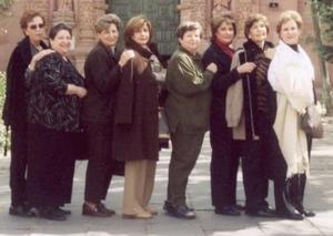 Las lagunera Noelie Baille, Tules Martínez de Sada, Astrid Martínez, Nuria Farrús, Laura Martínez, Gabriela Tumoine de Rocha y  Martha Peña.